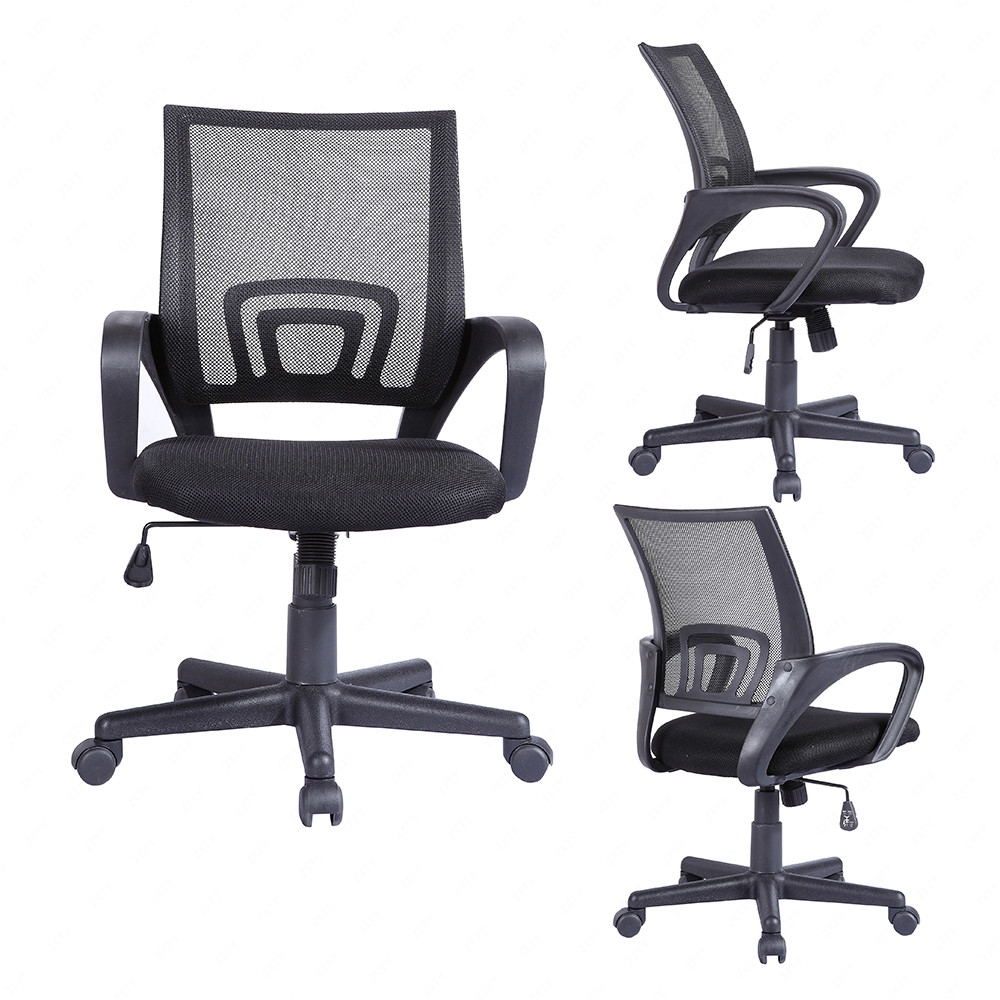 high back executive swivel black mesh office chair computer desk