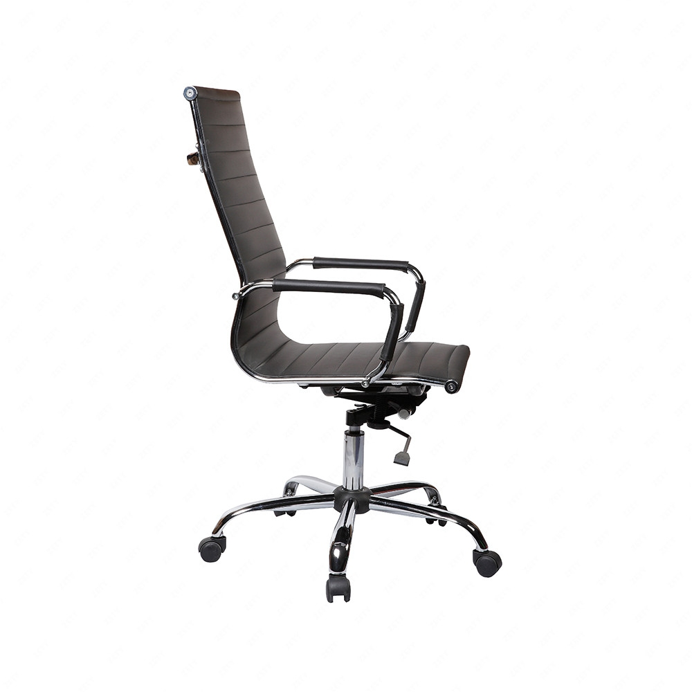 swivel black office chair leather adjustable computer chair ebay
