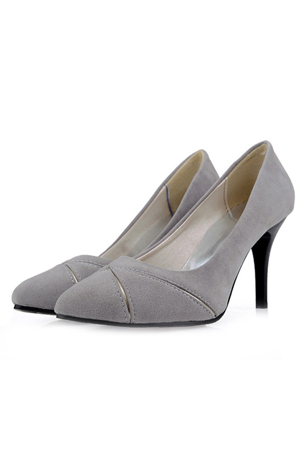 womens shoes high heels stiletto faux leather grey