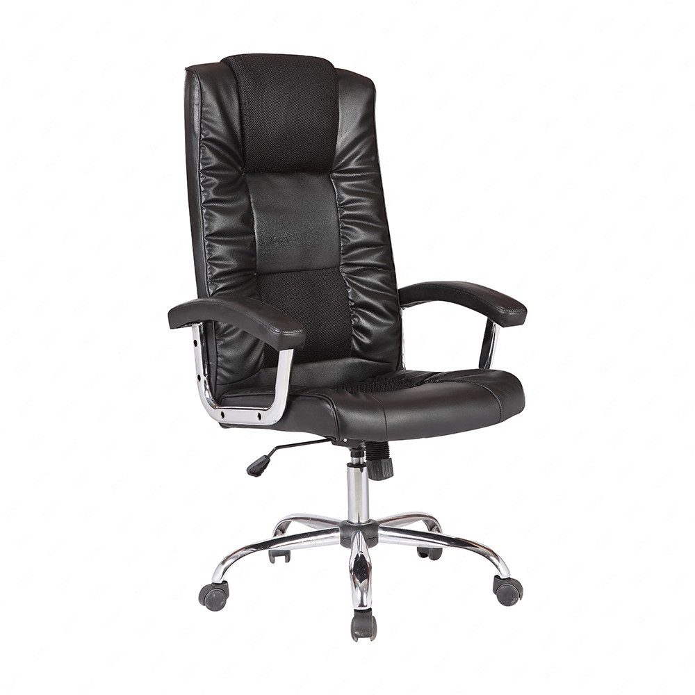 back swivel office chair executive pu leather computer desk task black