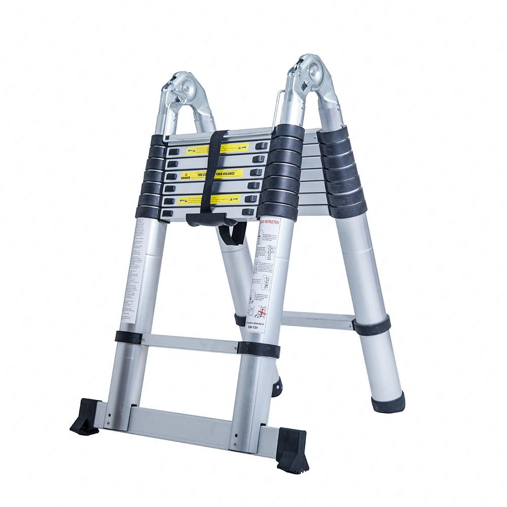 16 5ft Aluminum Multi Purpose Ladder Folding Telescoping