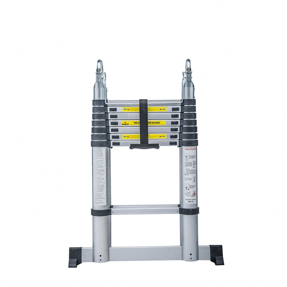 Aluminum Telescopic Ladder : Ft aluminum multi purpose ladder folding telescoping