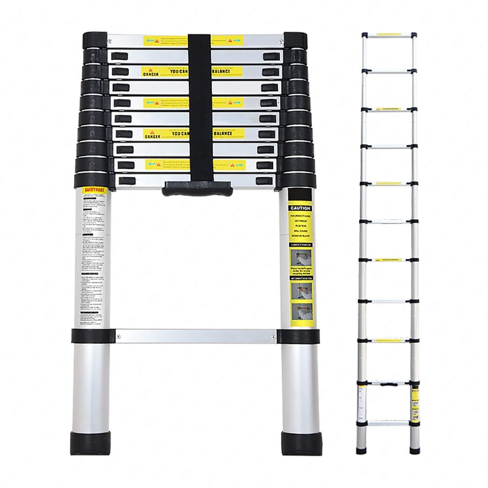 Telescoping Aluminum Extension Ladder : M foldable climb multi purpose telescopic aluminum