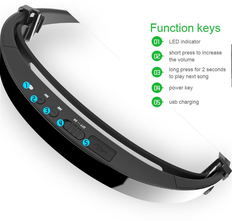 lf18 bluetooth stereo drahtlos knochenschall kopfh rer. Black Bedroom Furniture Sets. Home Design Ideas