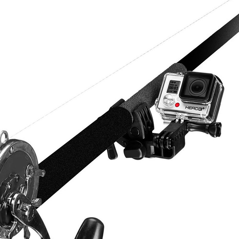Fixed clip gun fishing rod bow sportsman clamp mount for for Gopro fishing mount