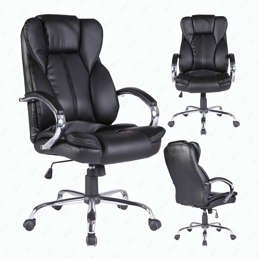 office chair executive swivel computer desk chair pu leather black bn