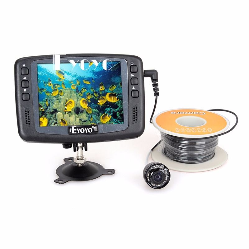 Eyoyo 4 3 034 15m color monitor underwater camera ice sea for Underwater camera fishing