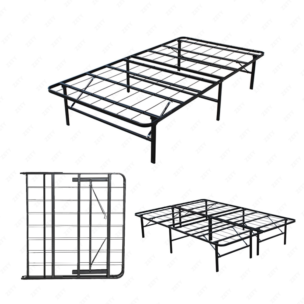 metal bed frame platform mattress foundation twin full queen king cal king ebay. Black Bedroom Furniture Sets. Home Design Ideas