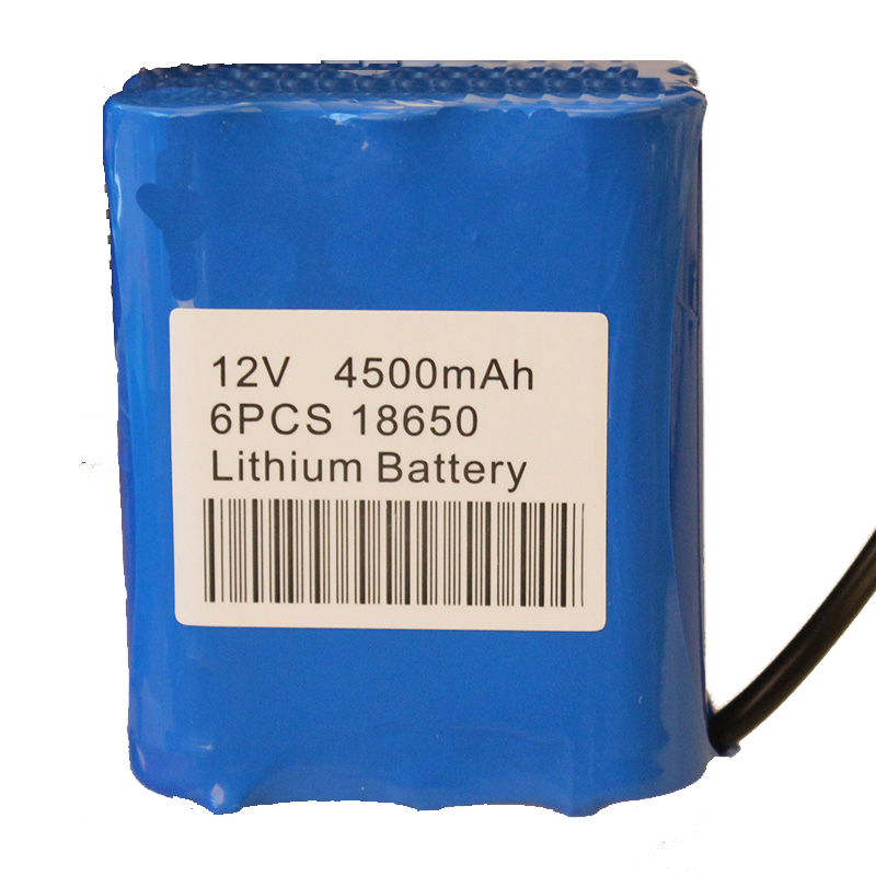 18650 12v 4500mah battery pack for 15 30 50m fish finder for Battery powered fish finder