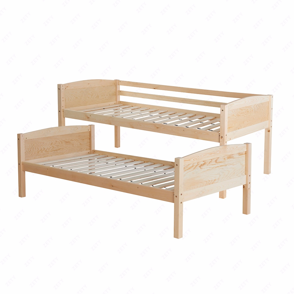 3ft solid pine wood double single bunk bed frame splits for Single bunk bed frame