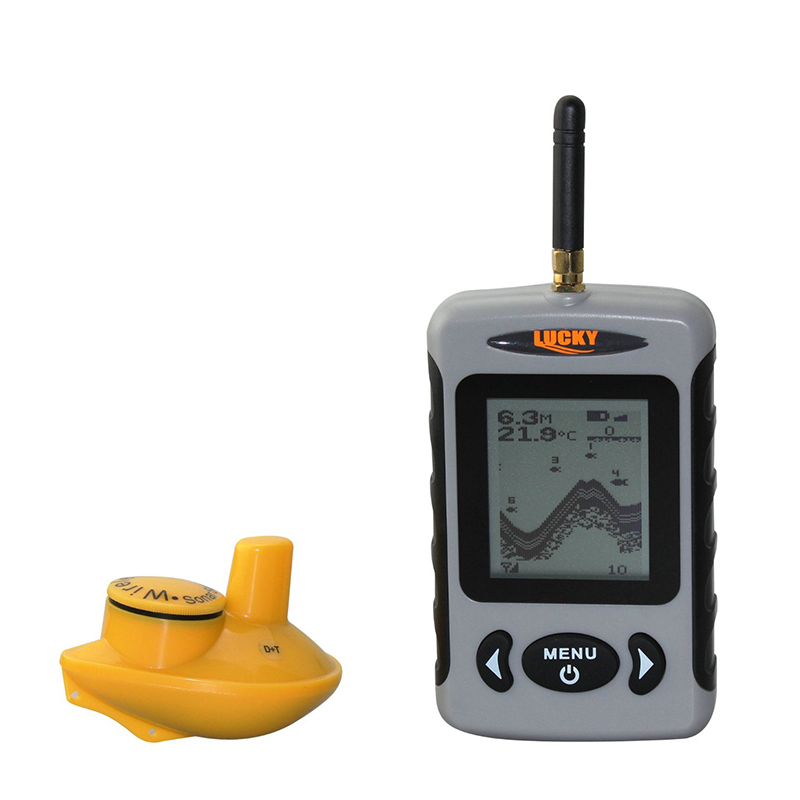 Lucky ffw718 wireless fish finder alarm 40m 120ft sonar for Used fish finders on ebay