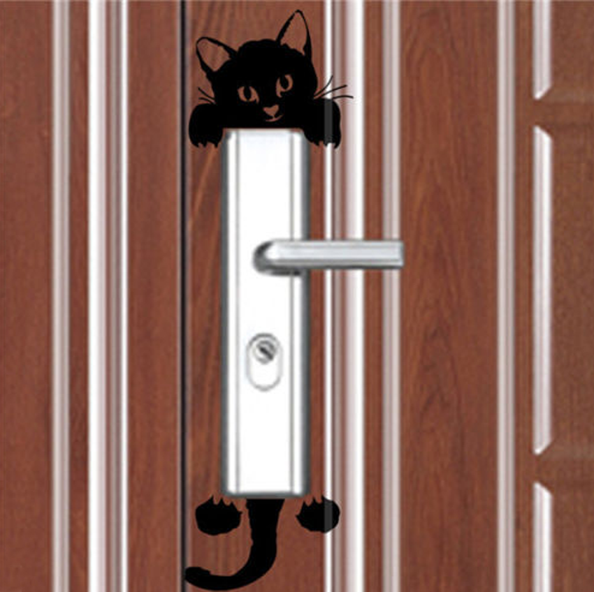 Cute Black Wall Decor : Home wall decor decals art mural funny cute black cat