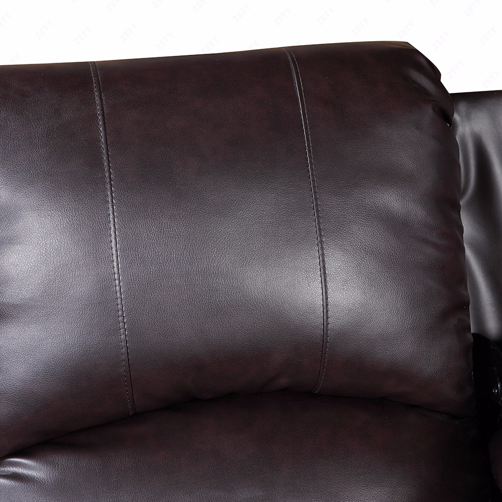 brown 3 set sofa loveseat chaise couch recliner leather living room furniture ebay. Black Bedroom Furniture Sets. Home Design Ideas