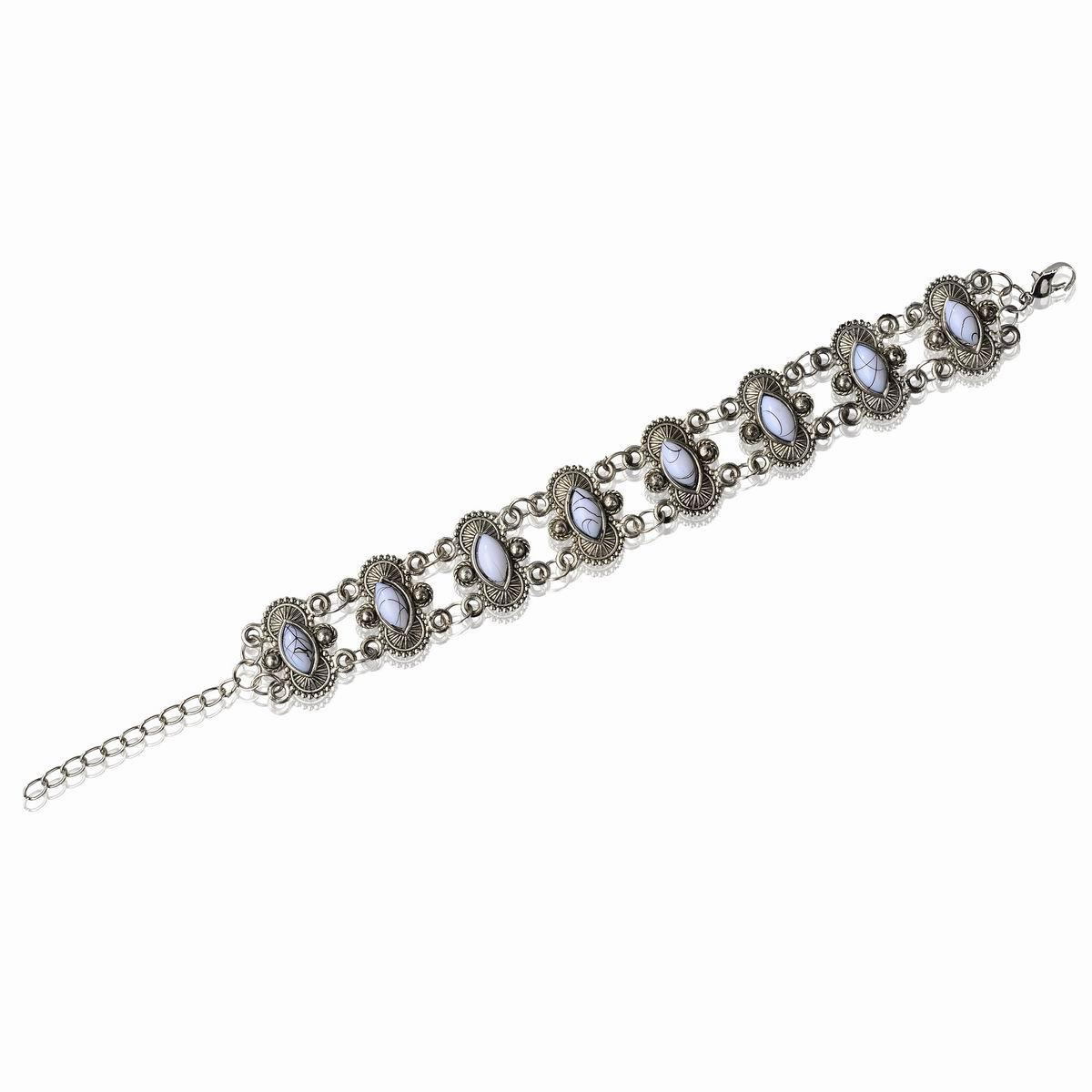 Vintage Carved Link Chain Bracelet Acrylic Gift Bangle Gift Retro New Fashion