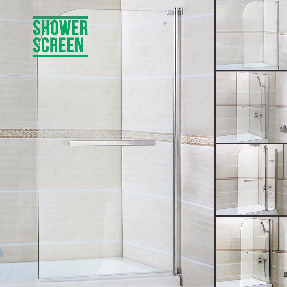 180 Pivot Square Double Door Frameless Glass Over Bath Shower Screen Door Pa