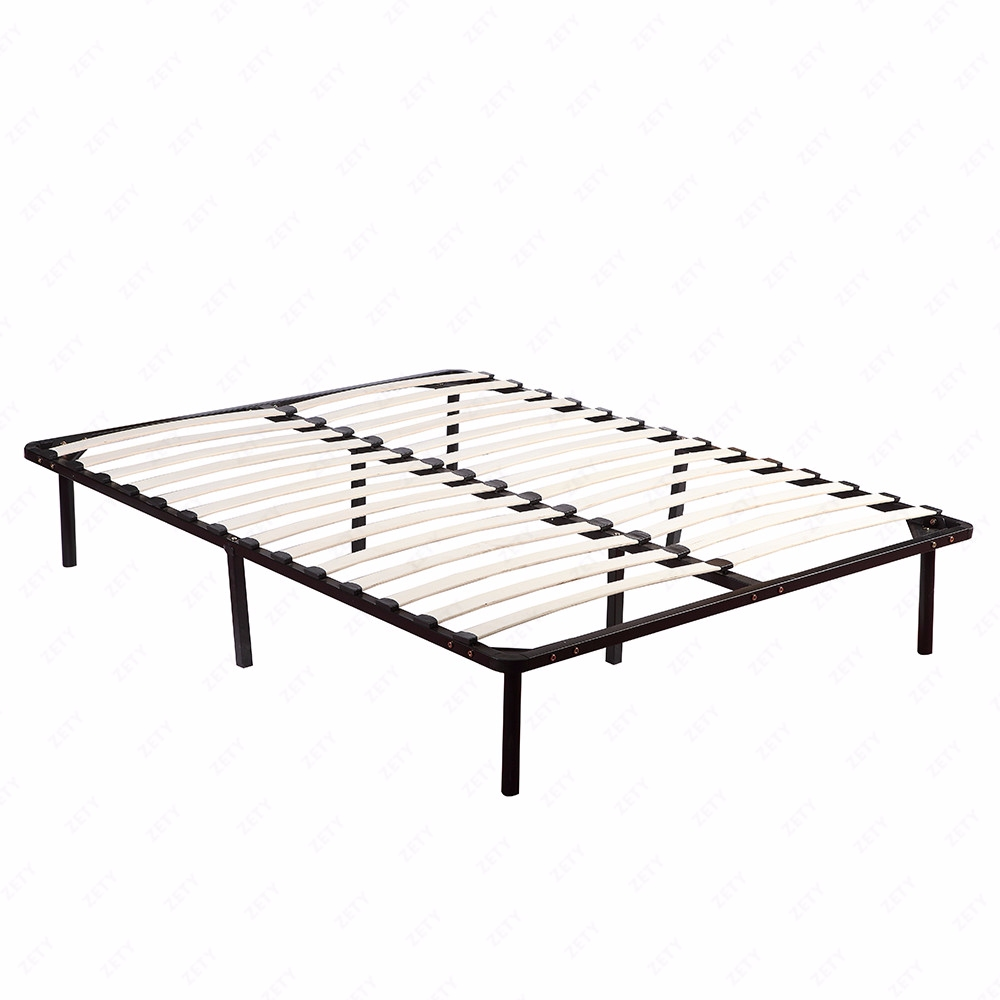 Wood Full Size Bedroom Slats Metal Bed Frame Platform