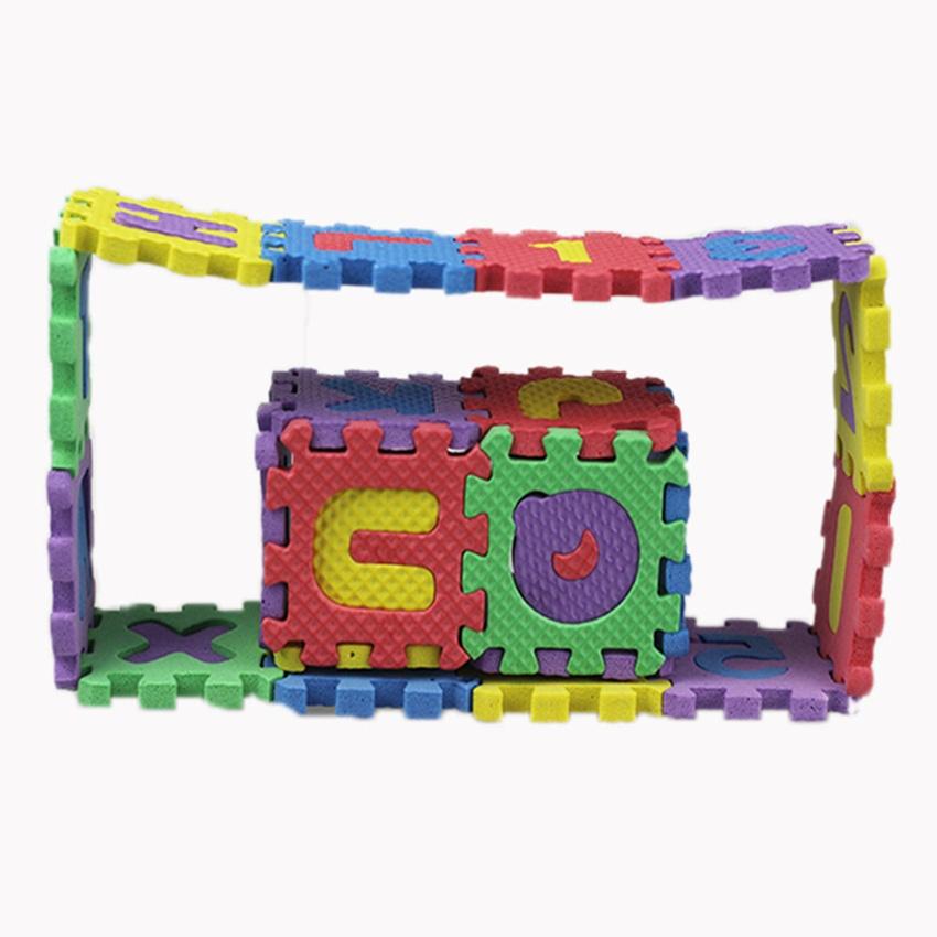 Cute 36pcs Mini Puzzle Alphabet A Z Letters Numeral Foam