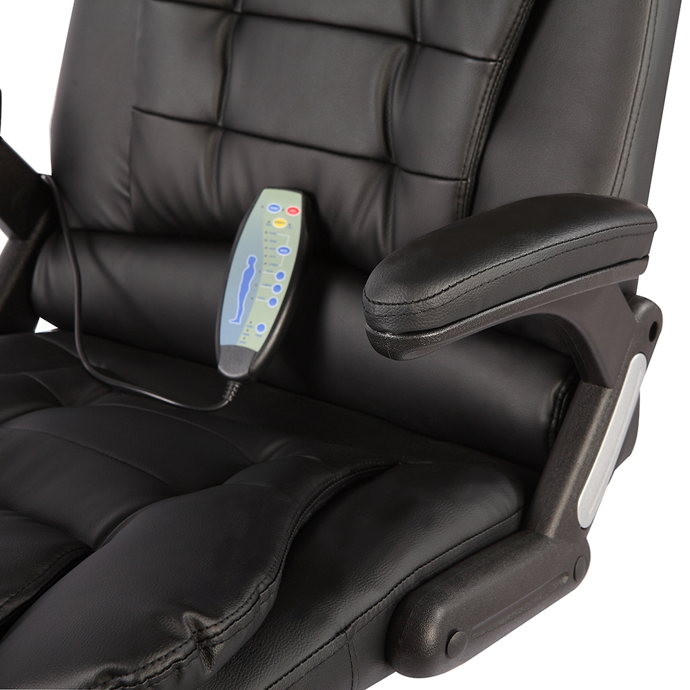 Executive office massage chair heated vibrating ergonomic for Chair massage dc
