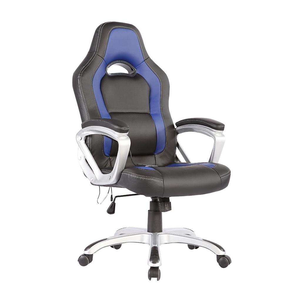 Race Car fice Massage Chair Heated Vibrating PU Leather