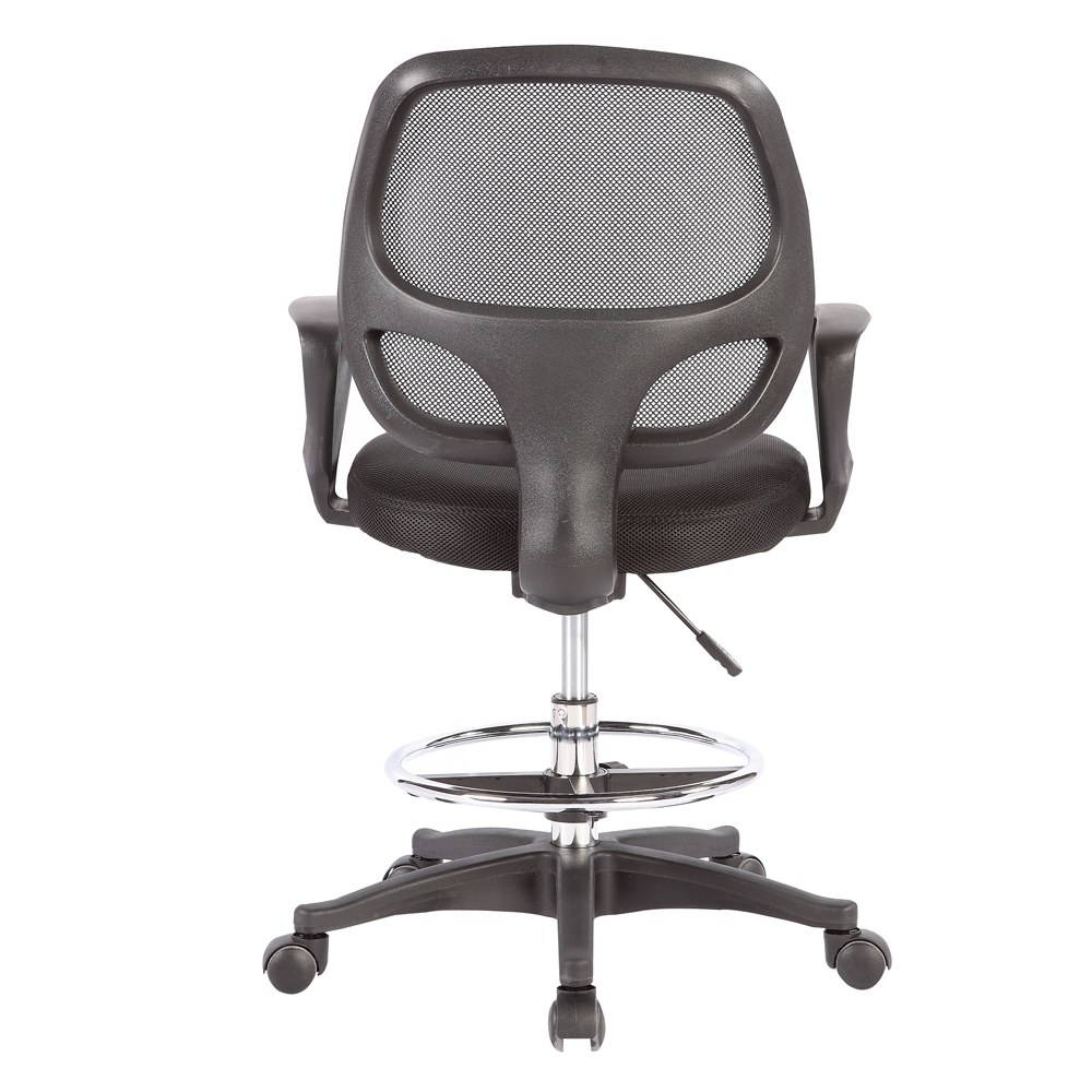 Ergonomic Office Drafting Chair Stool Adjustable Footring Mesh Computer Bank
