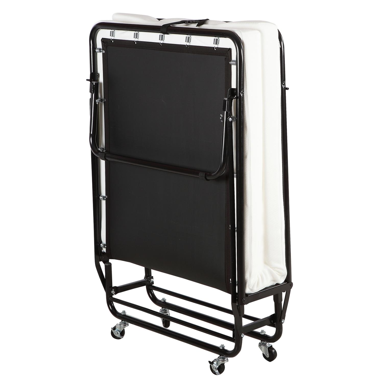 folding metal bed twin size platform rollaway guest bed memory frame mattress ebay. Black Bedroom Furniture Sets. Home Design Ideas