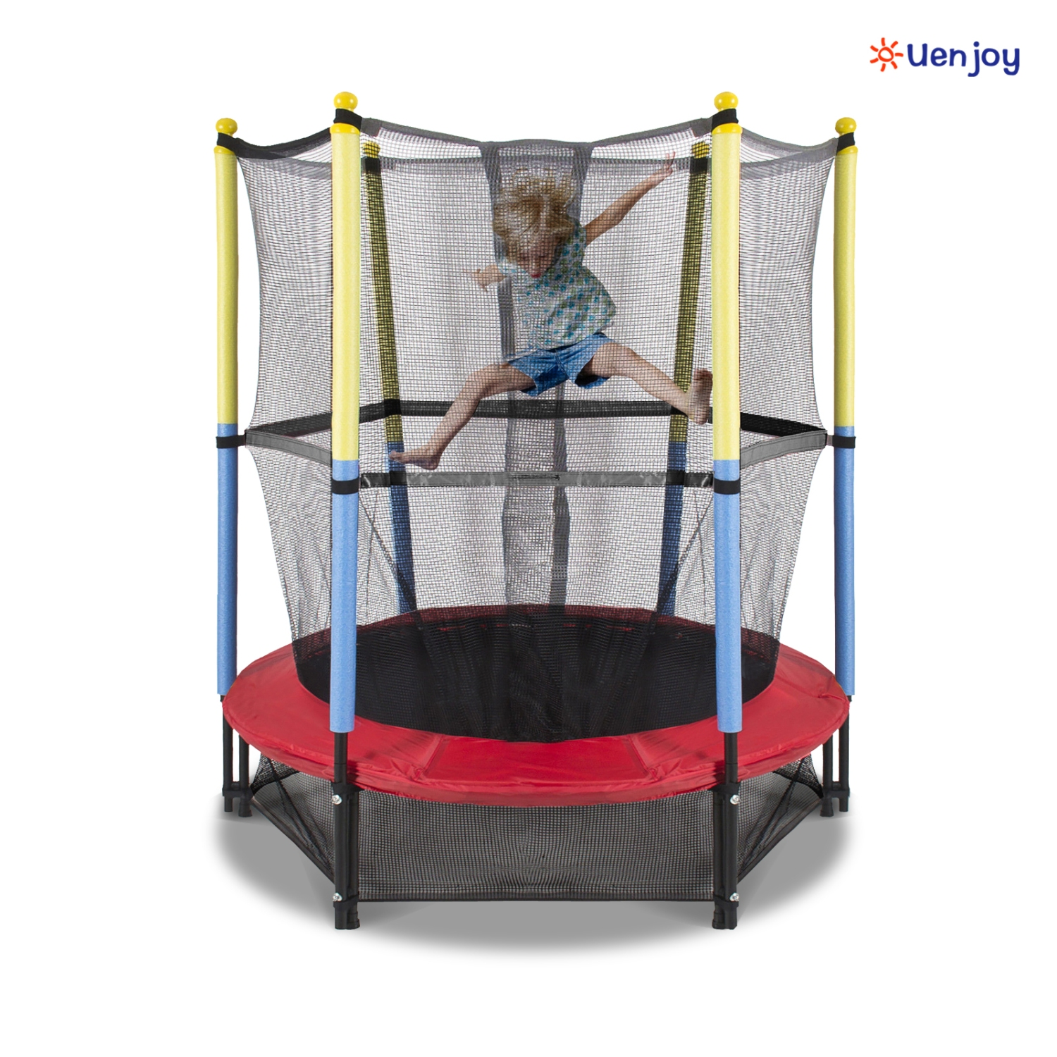 "New 14ft Trampoline Combo Bounce Jump Safety Enclosure Net: 55"" Round Kids Mini Trampoline Combo W/Enclosure Net Pad"