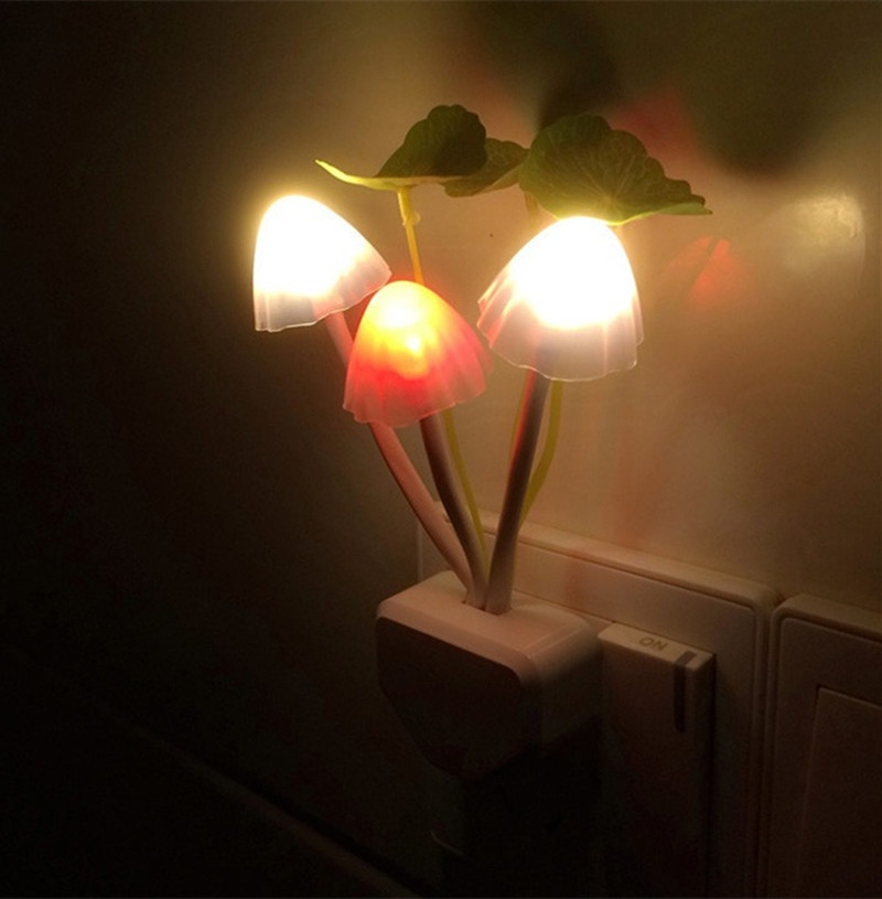 Baby children room decoration nursery bedside led mushroom for Kids room night light