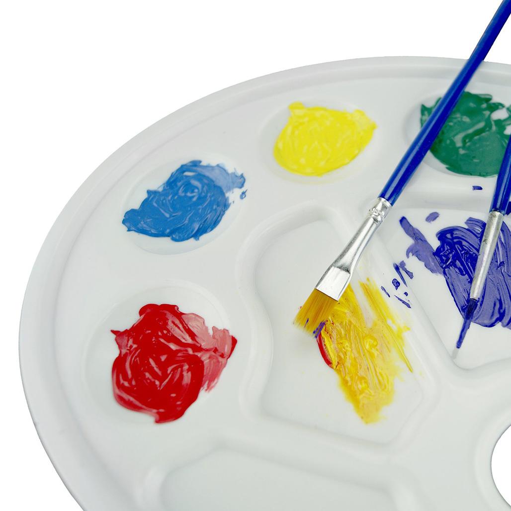 aquarelle palette 10 puits trou de pouce plastique art peinture plateau artiste ebay. Black Bedroom Furniture Sets. Home Design Ideas