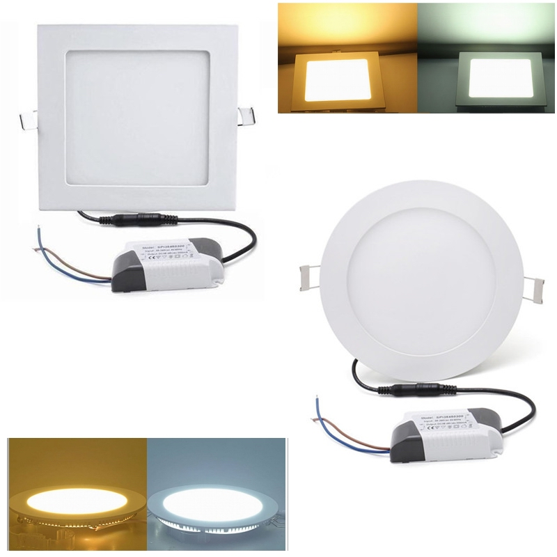 5x ultraslim led panel leuchte einbaustrahler deckenleuchte lampe flurleuchte ebay. Black Bedroom Furniture Sets. Home Design Ideas