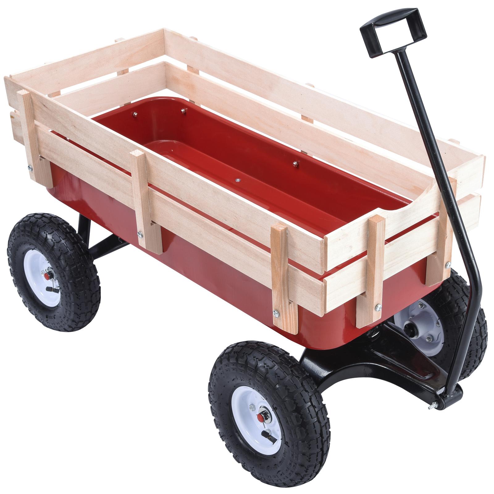 Pulling A Wagon : Bn lb all terrain pulling outdoor wood wagon garden