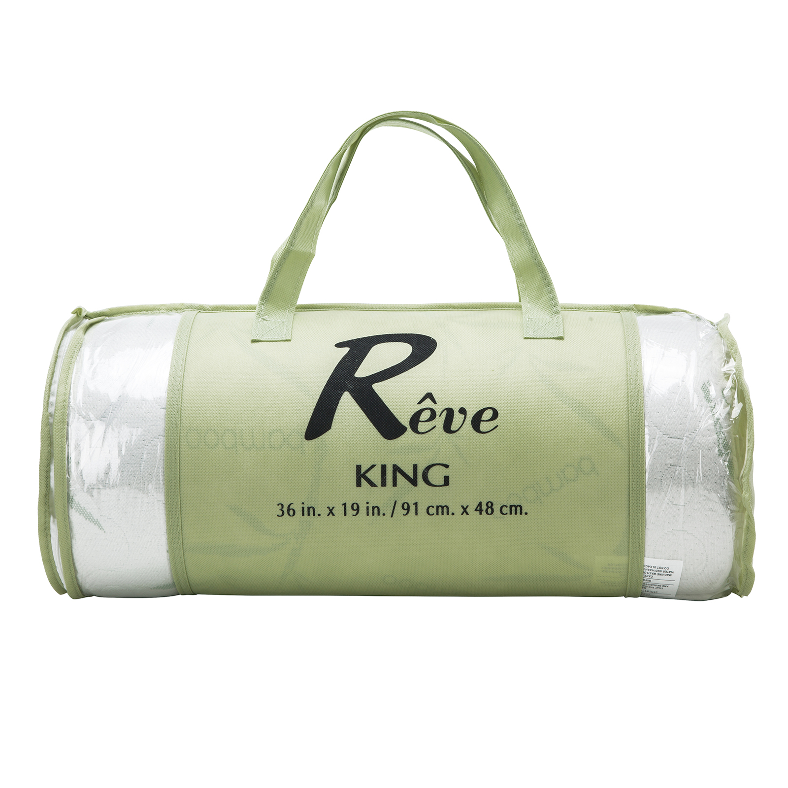 Memory Foam Bamboo Bed Pillow Removable cover Carry Bag Queen & King Size
