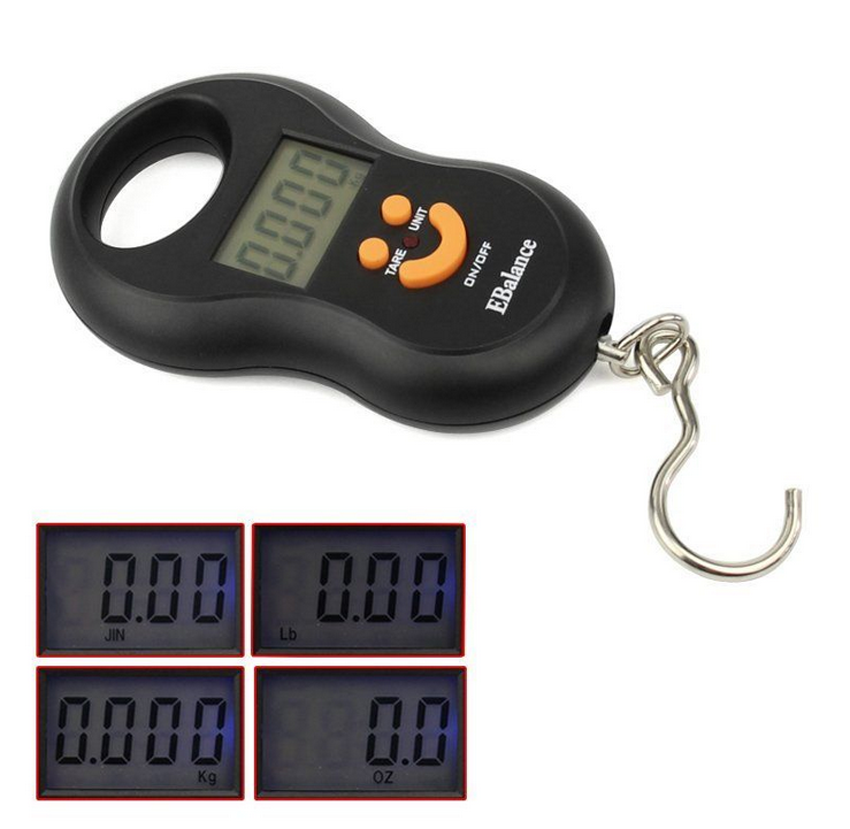 50kg 10g portable hanging luggage scale lcd digital for Mlf fishing scale