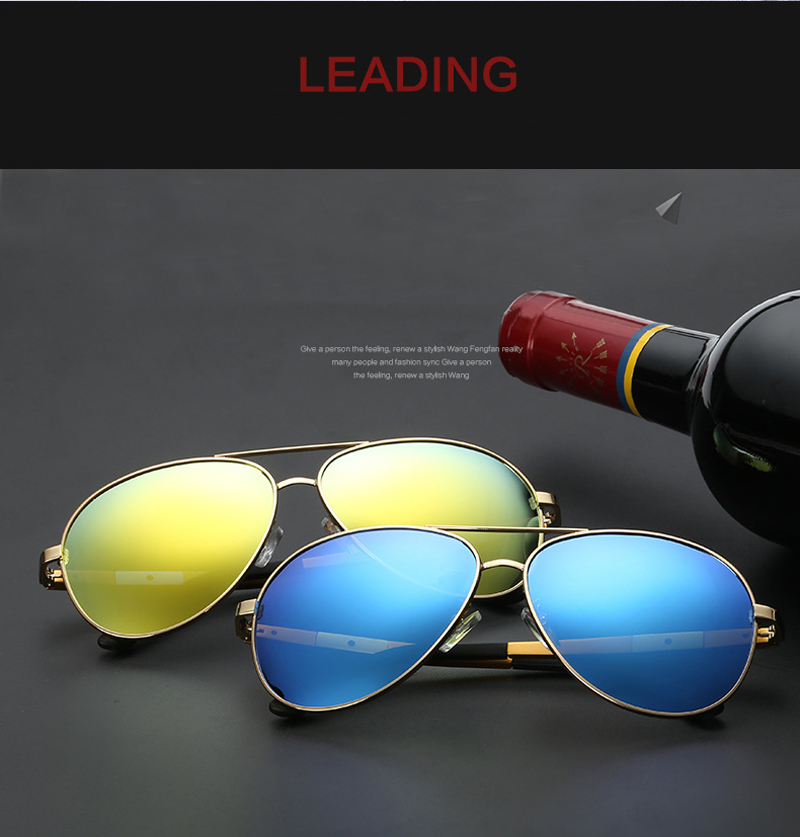 polarized mirrored aviator sunglasses  men polarized