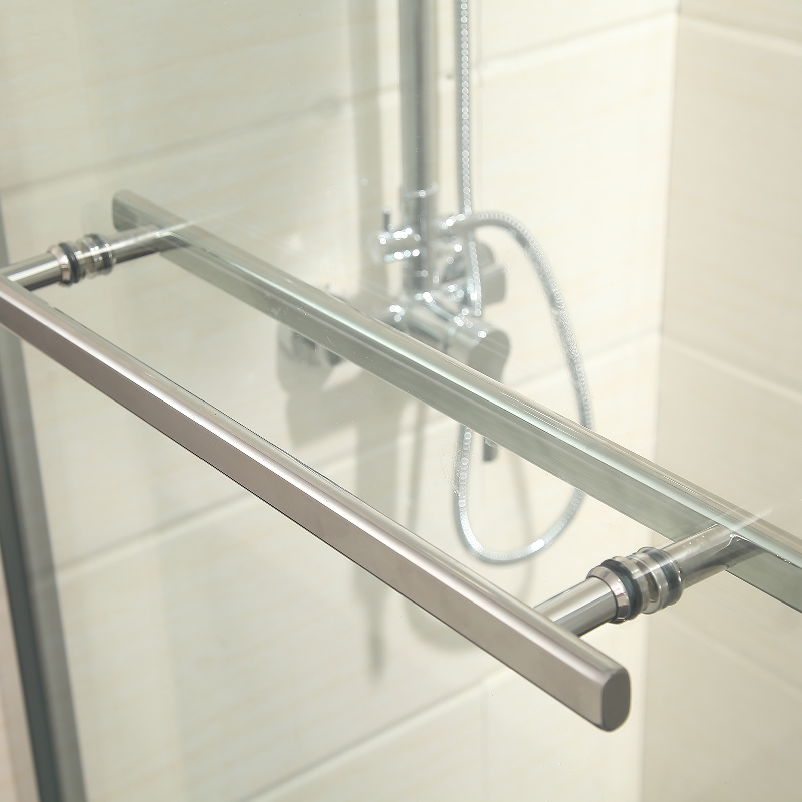 60 u0026quot  framed 2 sliding bath shower door 1  4 u0026quot  clear brushed
