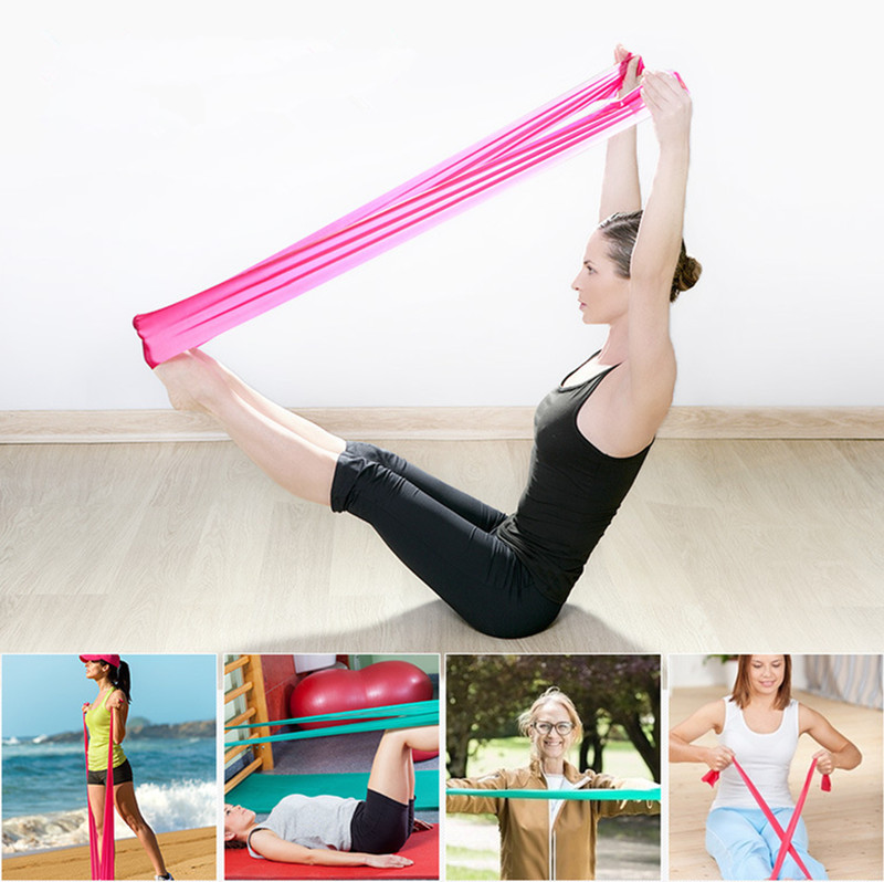Exercise Rubber Bands Green: 1.2m Elastic Yoga Rubber Stretch Resistance Exercise