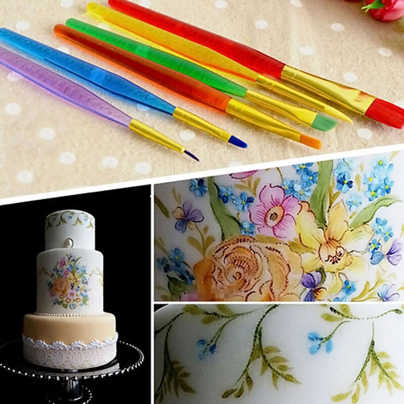 sugarcraft brush set diy cake icing decorating painting tools kit