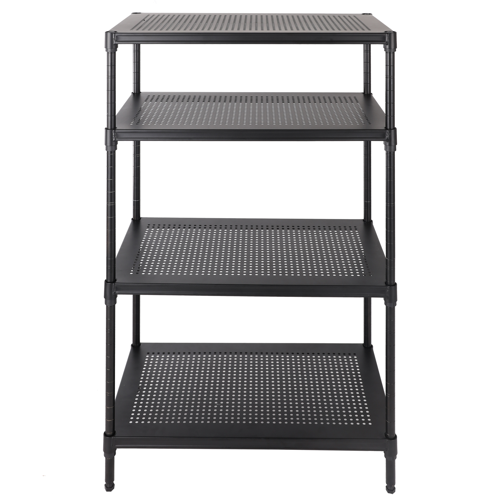 adjustable 4 tier heavy duty wire shelving rack unit steel. Black Bedroom Furniture Sets. Home Design Ideas