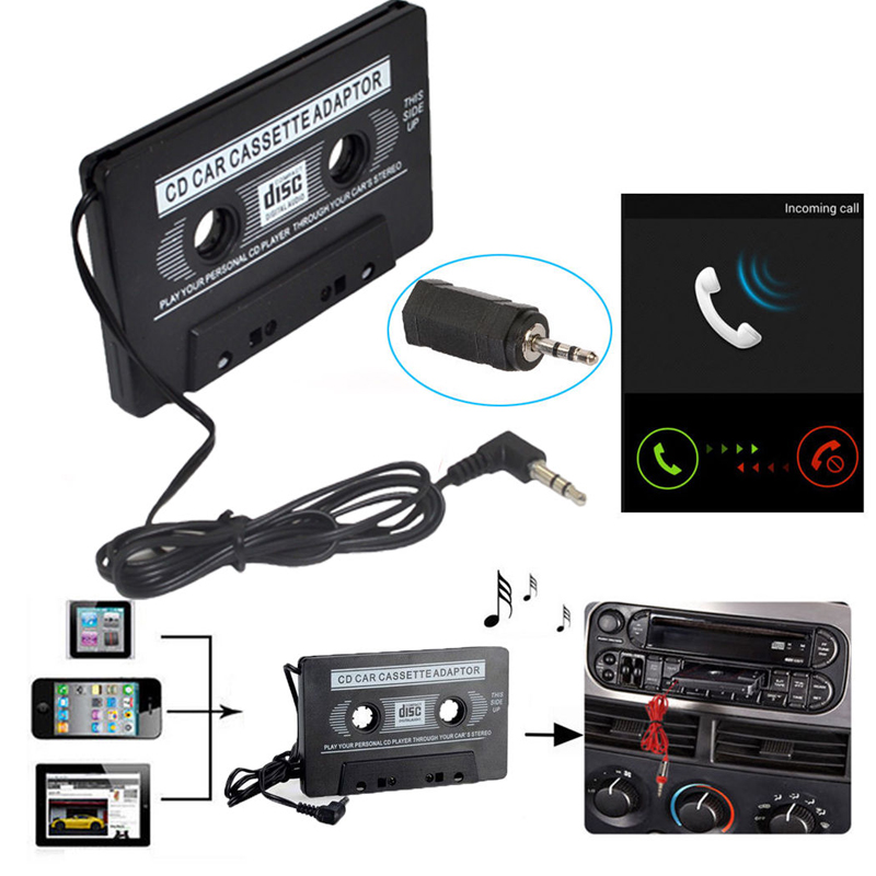 useful new car tape cassette to aux audio adapter for ipod video mp3 mp4. Black Bedroom Furniture Sets. Home Design Ideas