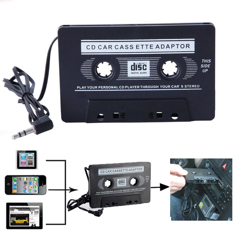in car audio tape cassette to jack aux for ipod mp3 iphone converter adapter new ebay. Black Bedroom Furniture Sets. Home Design Ideas