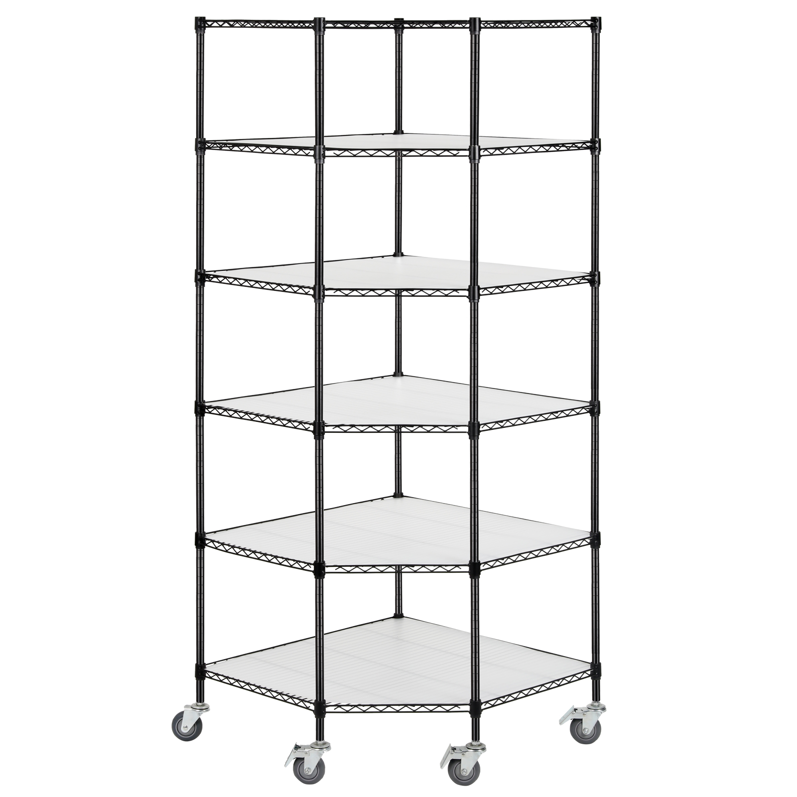adjustable 6 tier corner unit storage steel shelf wire. Black Bedroom Furniture Sets. Home Design Ideas