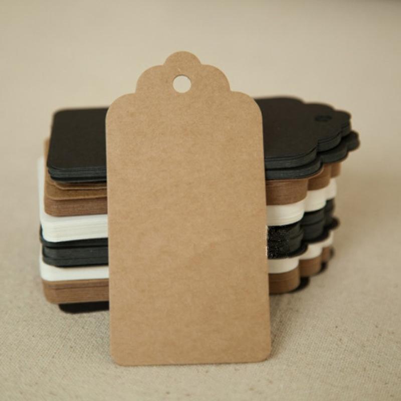 ... Vintage Blank Kraft Paper Hang Tags Wedding Favor Label Gift Cards