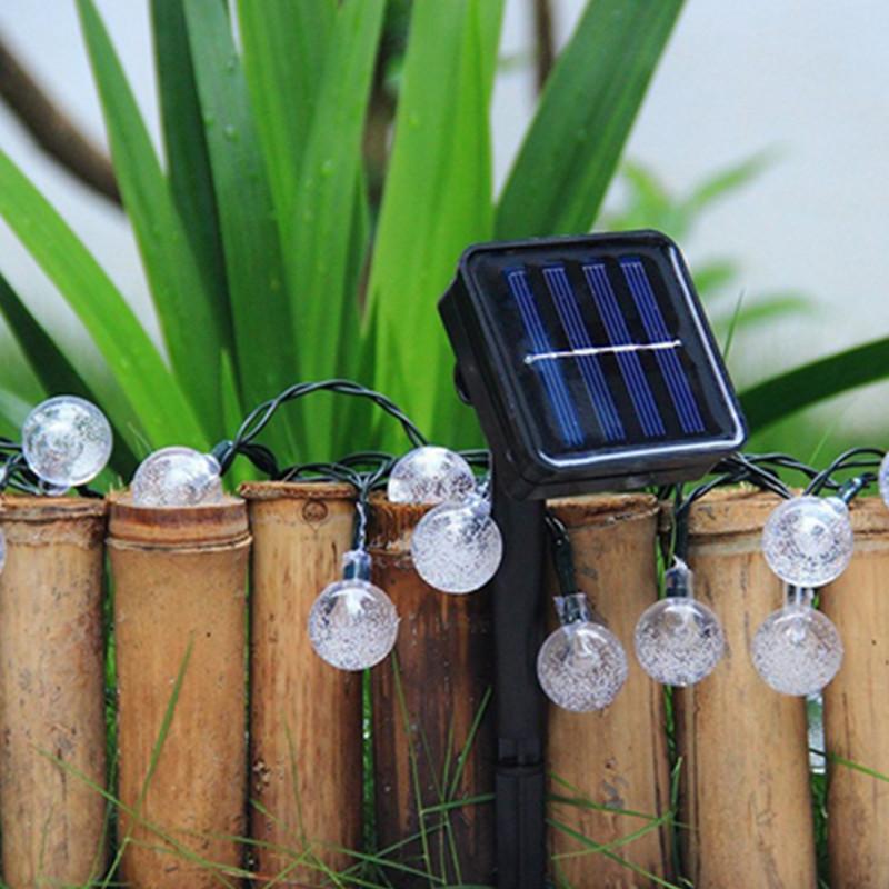 30 led solar lichterkette party lichterkette garten dekobeleuchtung au en licht ebay - Lichterkette garten sommer ...