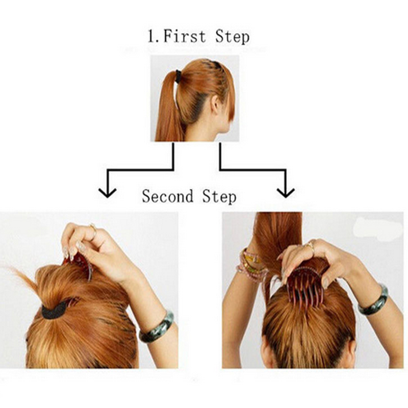 hair bun maker instructions