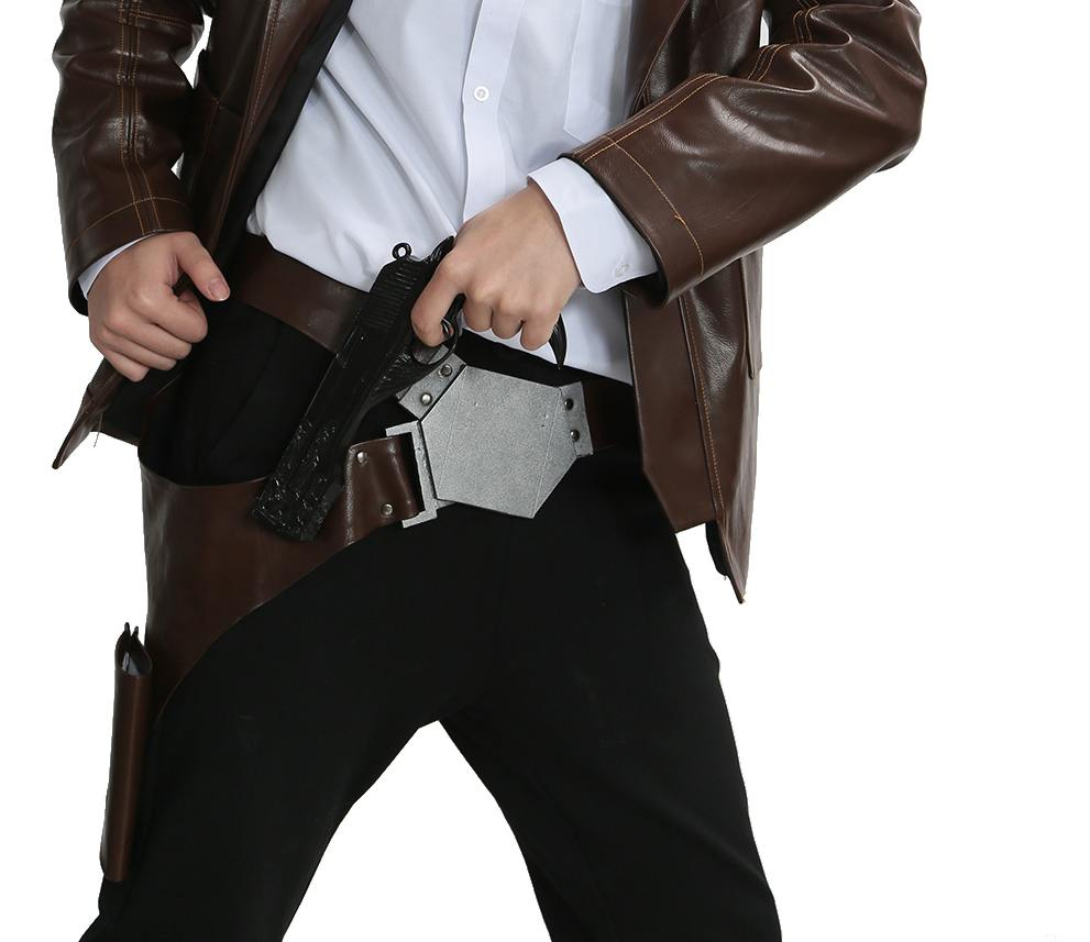 Image is loading Star-Wars-Han-Solo-Belt-Costume-Waist-Cosplay-  sc 1 st  eBay & Star Wars Han Solo Belt Costume Waist Cosplay Tactical Belt PU The ...
