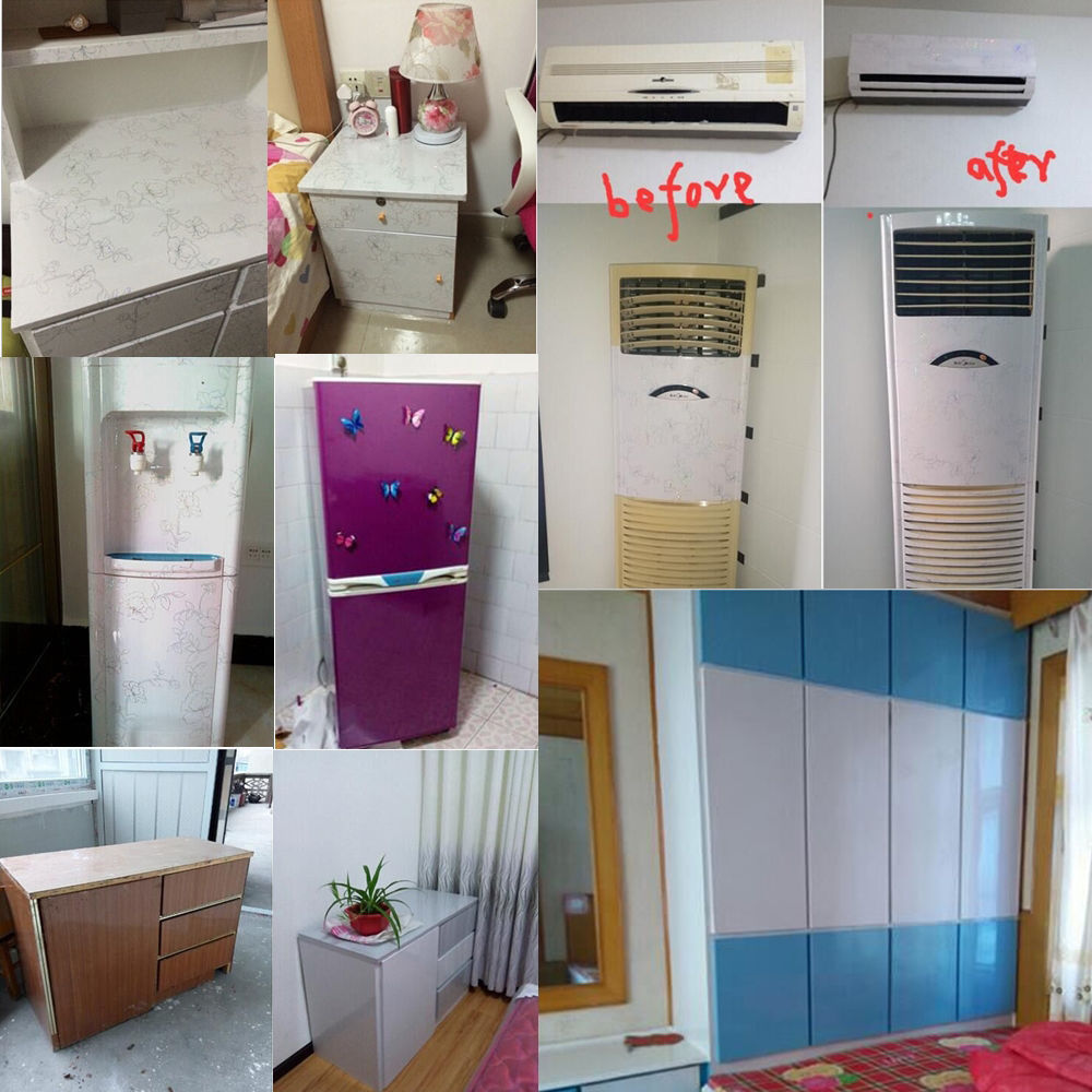 Vinyl Kitchen Cabinet Doors: Gloss Purple Contact Paper Self Adhesive Vinyl Kitchen