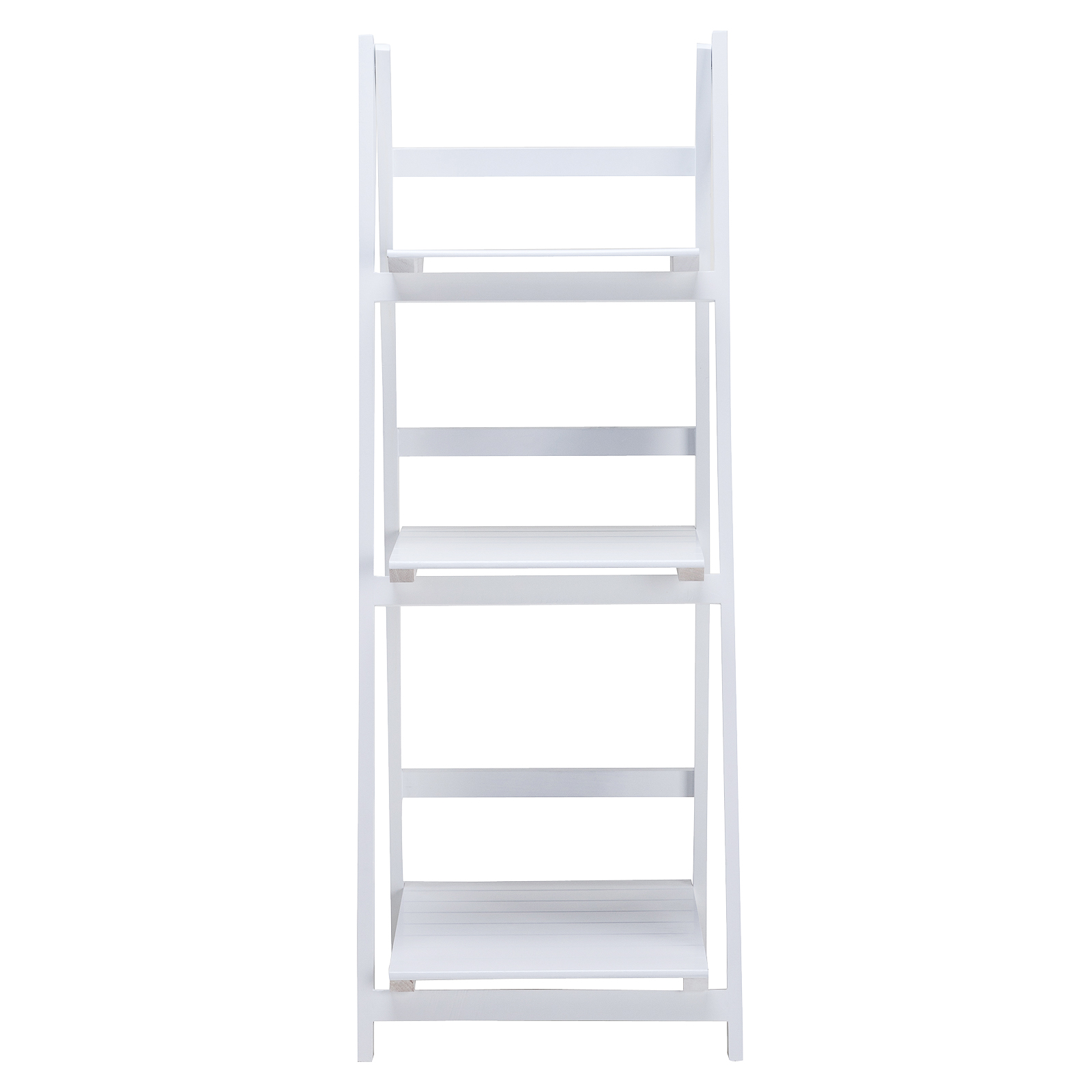 3 tier white leaning ladder wall bookcase shelf storage. Black Bedroom Furniture Sets. Home Design Ideas