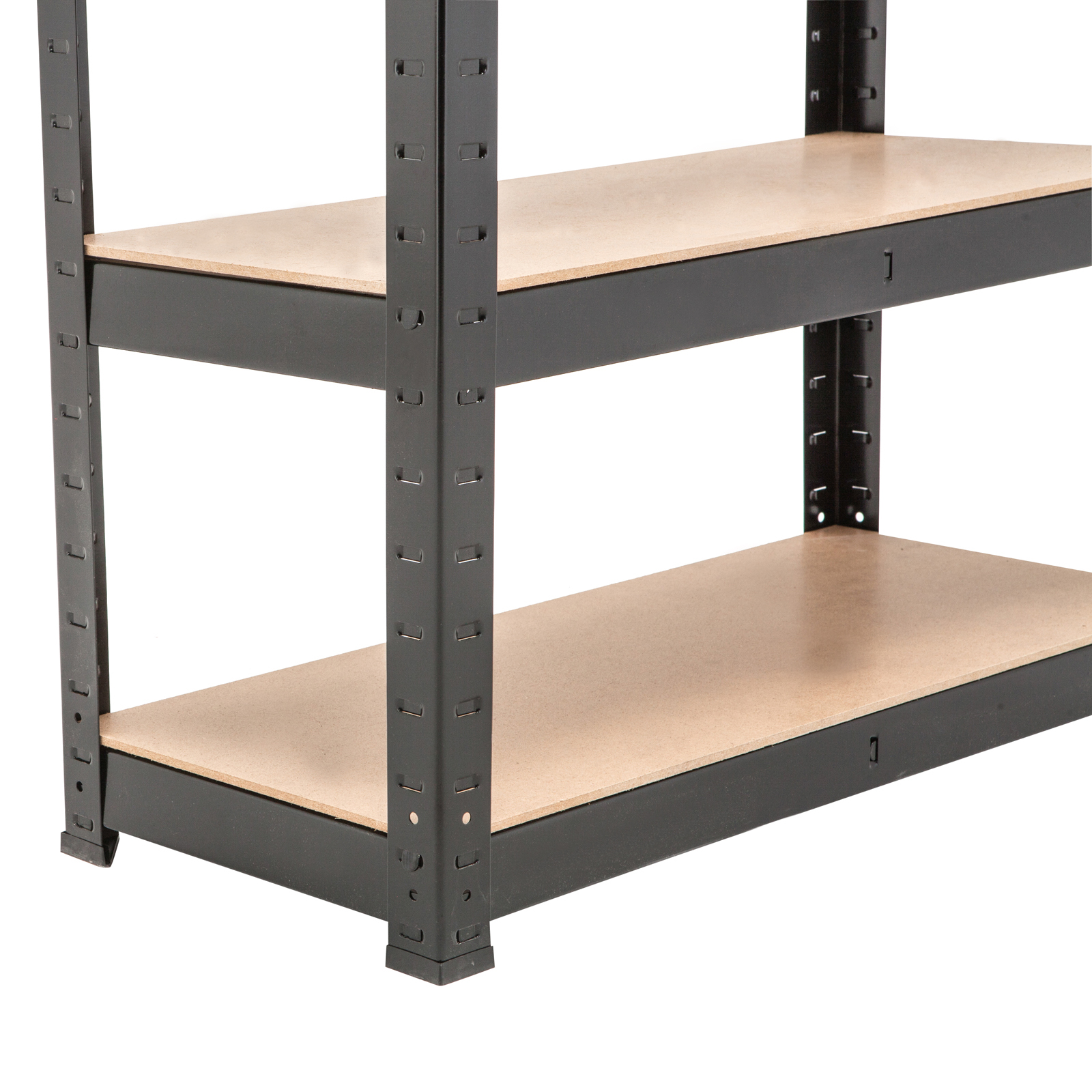 5 tier heavy duty boltless metal black shelving storage. Black Bedroom Furniture Sets. Home Design Ideas