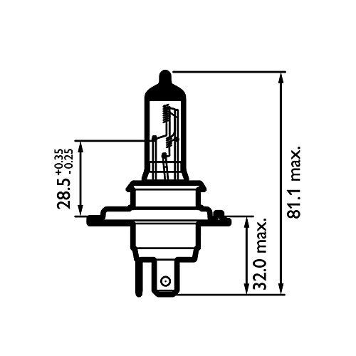 halogen osram cool blue intense h4  9003 headlight replacement bulbs 12v 60  55w