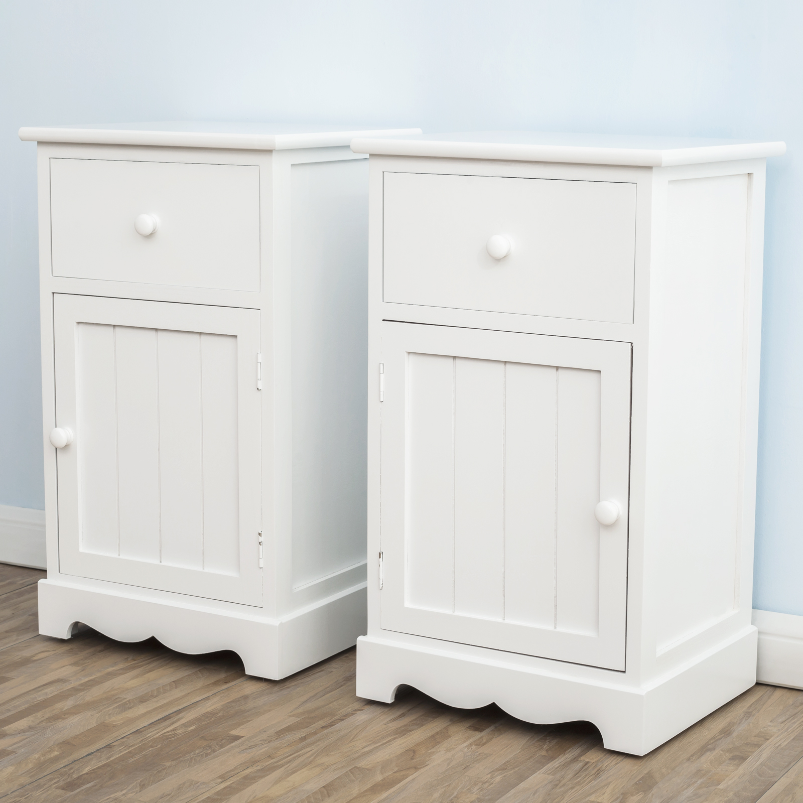 pair of bedside table unit storage cabinet w drawers cupboards groove door ebay. Black Bedroom Furniture Sets. Home Design Ideas