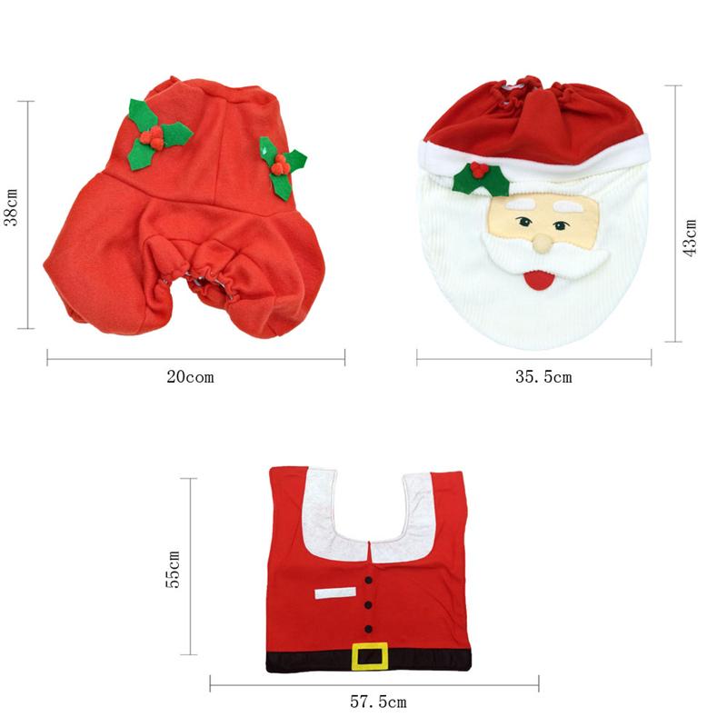 2x Set Weihnachts Teppich Tank Deckel Badezimmer Toiletten